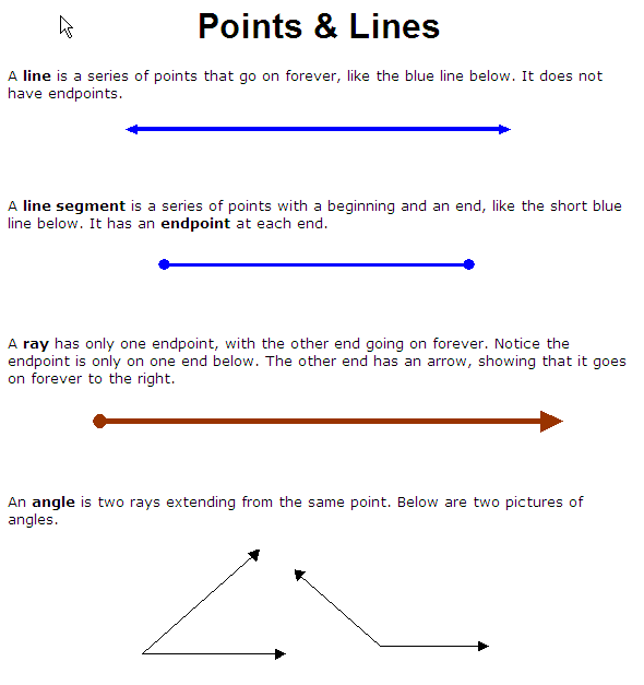 points and lines