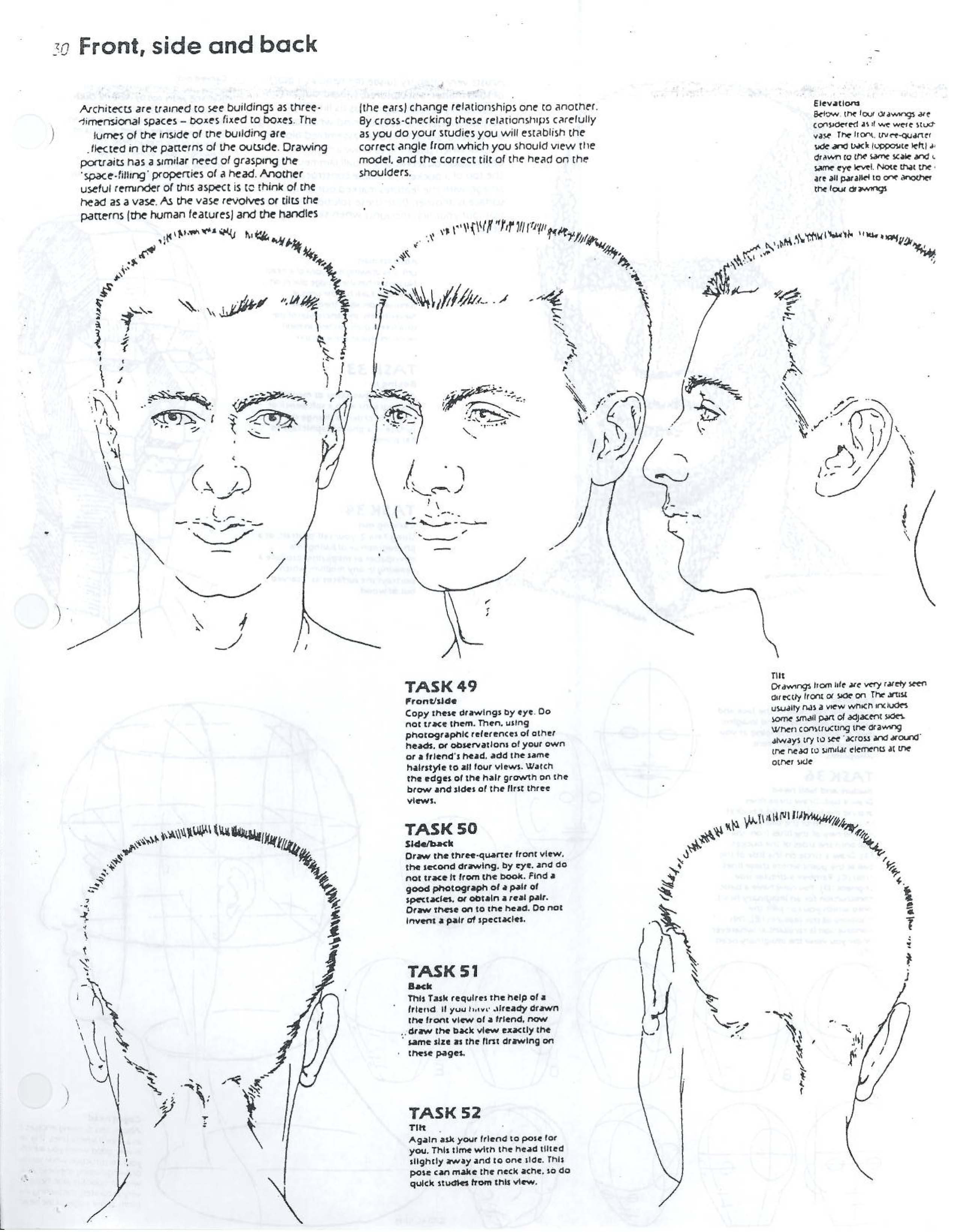 Front_side_and_back_of_headg How To Draw Realistic Eyes From The Side  Profile View